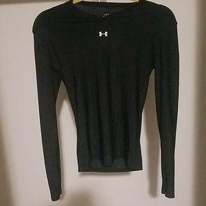 Under Armour black long sleeve workout shirt